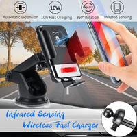 D2 Car Infrared Qi Wireless Charger Phone Holder