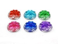 CLEARANCE Pack of 50 Round Assorted Colours Coconut Tree Flatback Cabochons. 11mm Rhinestone Dome. £8.99