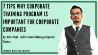 Best 7 Reasons Why Corporate Training Program is Important For Corporate Companies. Checkout in detail. For more information visit https://www.yatharthmarketing.com/best-7-reasons-why-corporate-training-program-is-important-for-corporate-companies
