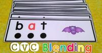 CVC Blending Word Strips will provide practice for sounding out and blending over 100 words.l