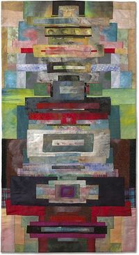 'Before A Gate' by Emily Richardson - 34 x 65 inches Quilts Japan Prize jbe200quilts