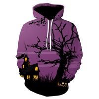 Men Women Mode 3D Print Long Sleeve Halloween Couples Hoodies Top Blouse Shirts $30.25