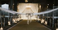 lace bow marking off the ceremony aisle | B. Mo Foto #wedding