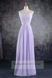 Floral Lilac Formal Long Prom Dresses 2014