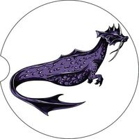 2 Absorbent Car Coasters, Dragon, Car Accessories for her, Auto Coaster, Coaster, Cup Holder Coaster, Gift For Her, For Him $14.00