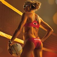 Pro Volleyball player Kerri Walsh butt workout