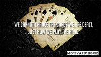 We cannot change the cards