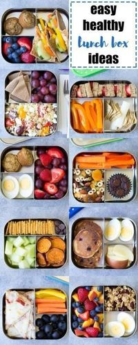 EASY, Healthy Lunch Ideas for Kids! Bento box lunchbox ideas to pack for school, home, or even for yourself for work! Make packing lunches quick and easy! | www.kristineskitchenblog.com by joyce