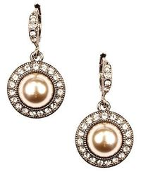 Givenchy Earrings, Blush Glass Pearl and Glass Drop Earrings