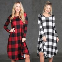 Fashion Women Plaid Casual Long Sleeve Evening Party Mini Dress With Pockets $26.89https://www.appareltreats.com