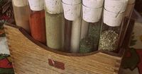 Test Tube Spice Rack. So cute. Not convinced for the kitchen, though, unless you really wanted it on the counter (or in a drawer, hmm...). Surely there are other uses for this kind of thing?
