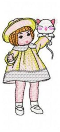 EMBROIDERY DESIGNS SWEET GIRLS (10 DESIGNS)