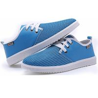 Merkmak Casual Flat Men Shoes Fashion Trend Lace-up Shoes Office Soft Driving Men Shoes Loafers Breathable Shoe Weaving Classics £33.80