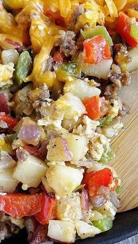 Skillet Sausage Hash with Eggs