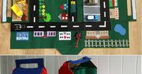 Free Pattern & Tutorial for Felt Car Play Mat and House