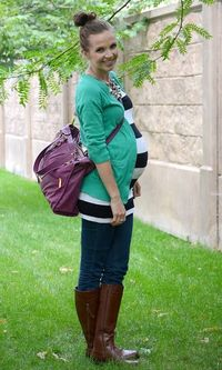 striped shirts, diaper bags and mint green.