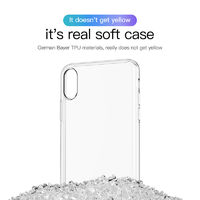 "Baseus Clear Transparent Shockproof Soft TPU Protective Case For iPhone 9 6.1"" 2018"