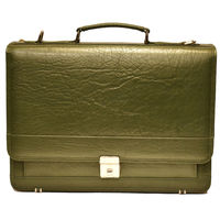 Johny Weber Handmade Messenger Style Leather Briefcase $199.00