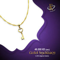 Keep glamour close at heart with this stunning gold necklace. �–� Product type: Gold Necklace �–� Price: 43KD �–� Weight: 2.100 Grams  �–� Free Delivery �–� Karat: 18K �–� Part Number: FKJNKL1489 �œ…10...