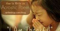 Kids' activity: How to write a Thanksgiving acrostic poem