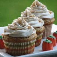 "Pumpkin Spice Cupcakes | ""This hearty pumpkin cupcake with a cinnamon-cream cheese frosting is good in the fall or any other time of the year."""
