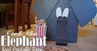 {free} Feed the Elephant Printable Game to use with a make your own cardboard box elephant!