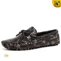CWMALLS® Designer Leather Embossed Moccasins CW707010