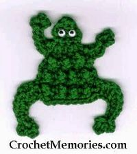 Ribbit, ribbit, ribbit - I can almost hear the chorus of frogs can't you? Work up a few for your fridge today.