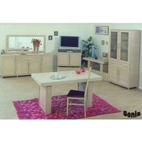 Sonia different style of the Dining Set means that it would go very well as a centrepiece in the dining room. But the variety in size means that this dining set can be used in a kitchen or smaller room. Sonia Dining Set comes with the 4 Chair and 2 Armcha...