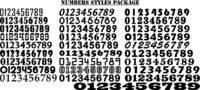 Numbers Styles Just for: $9.50