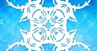Frozen snowflakes: Sven. This designer has all the main characters designed in snowflakes!