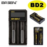 Basen BD-2 18650 Power Battery Charger Li-on LCD Display 2 Slot USB Rechargeable