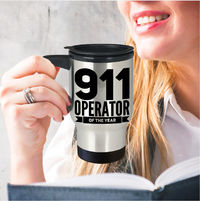911 Dispatcher Gifts - 911 Operator Of The Year Travel Coffee Mug Tea Cup - Emergency Dispatcher Stainless Tumbler $27.95