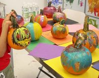 pumpkin painting, painting parties and art party.
