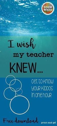 "A colleague shared the ""I wish my teacher knew"" phenomenon with me this year. She'd tried it with her class, and I was anxious to try it with my own. When I did"