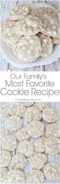 Do you want the Best Ever White Chocolate Macadamia Nut Cookie Recipe?? My FAVORITE cookies, soft and chewy, yet crunchy from texture.