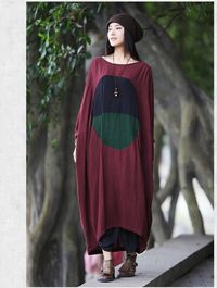 Women linen Maxi Dress, Oversize linen Dresses, kaftan, plus size dress