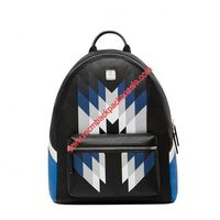 MCM Medium Stark Chevron Diamond Backpack In Black