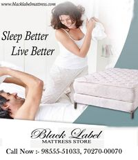Amazing price on Mattresses: Buy memory foam mattresses online in India at best price. Buy from a wide range of mattresses including cotton, spring, memory foam & coir foam mattress at Pepperfry. http://www.blacklabelmattress.com/