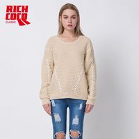Must-have Oversized Scoop Neck Long Sleeves One Color Winter Knitted Sweater Sweater - Bonny YZOZO Boutique Store
