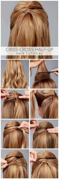 LuLu*s How-To: Criss-Cross Half-Up Hair Tutorial