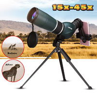 15-45x60 Outdoor Zoom Monocular HD Optic Night Vision Telescope Wildlife Brid Viewing Camping Travel