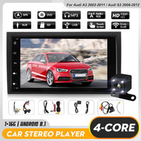 8 Inch 1DIN For Android 8.1 Car Radio Stereo MP5 Player Quad Core 1+16G GPS WiFi FM with Rear Camera For Audi A3 2003-2011 S3 2006-2012