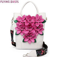 FLYING BIRDS Women Handbag luxury flower Tote Bag bucket Shoulder bag ladies Messenger Bags National style LM4384fb $59.60