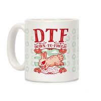 DTF Down to Frolic Ceramic Coffee Mug $15.99 �œ� Handcrafted in USA! �œ� Support American Artisans