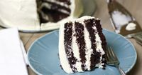 The best chocolate cake ever with pudding frosting