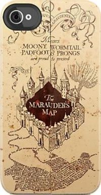 Marauders Map Iphone Case by Rachel Miller. i would buy an iphone just to get this.