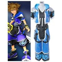 Game : Kingdom Hearts Category : Cosplay Costumes Material : PU Leather Hemline:Long-length Sleeve Length : Short Sleeve