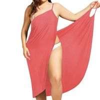 Plus Size Beach Cover Up Wrap Dress in All Colors $25.43