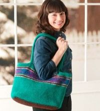 Felted Knit Tote - Get carried away with this felted knit tote - loved ones will be happy you did!